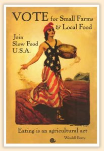 Slow Food Vote poster