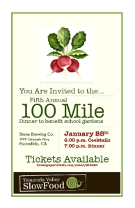 100 Mile Dinner to benefit school gardens